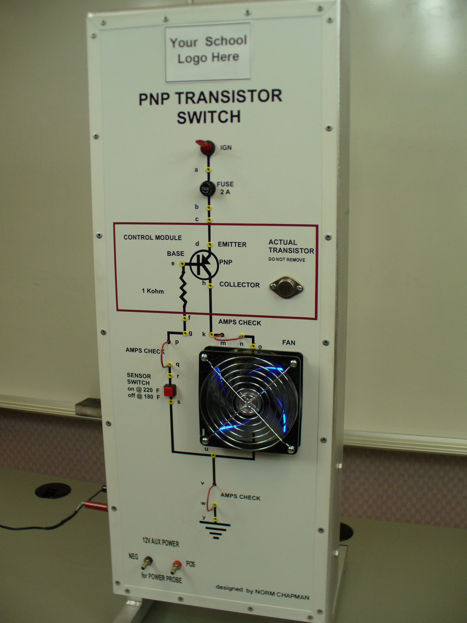 Pnp Transistor Circuit Affordable Electrical Training Aids Diagram P1040188